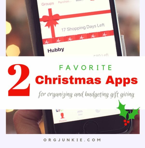 2 Favorite Christmas Apps for organizing and budgeting gift giving
