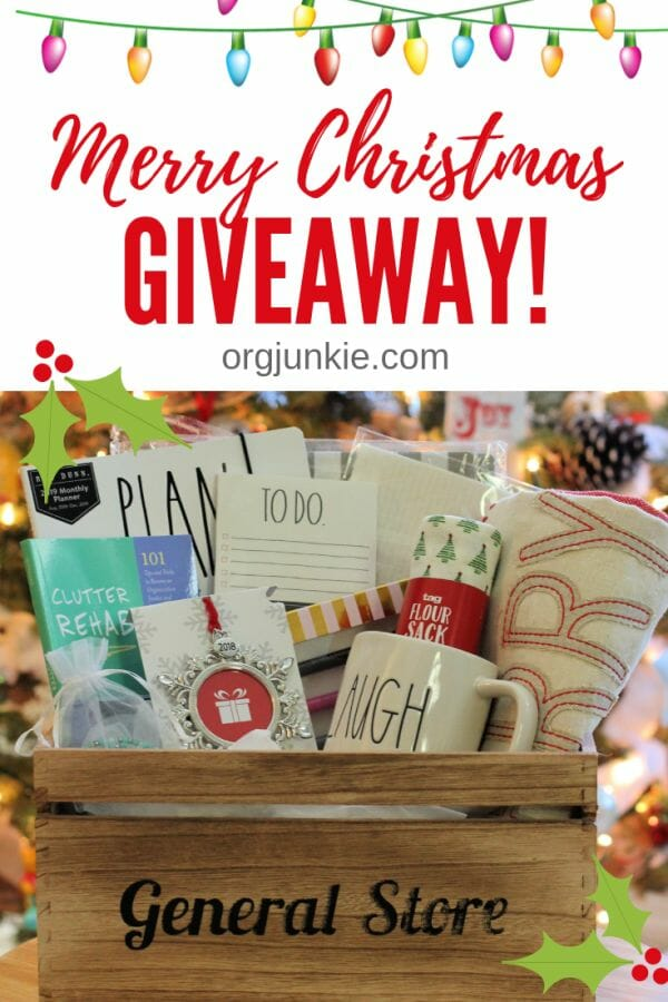 My Annual 2018 Merry Christmas Basket of Fun Giveaway at I'm an Organizing Junkie blog