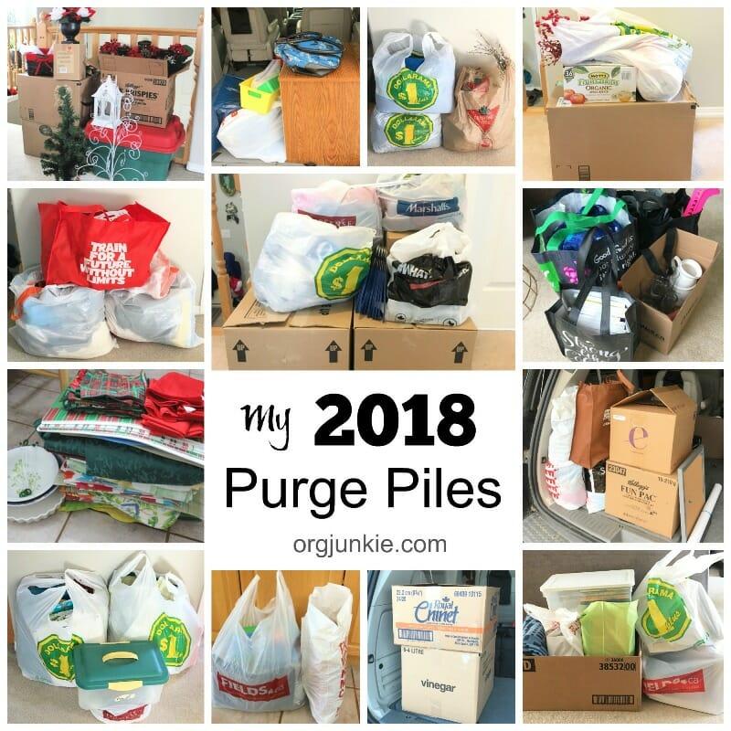 My 2018 Purge Piles