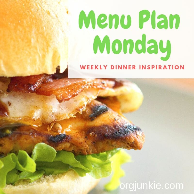 Menu Plan Monday for the week of May 20/19 ~ weekly dinner inspiration to help you get dinner on the table each night with less stress and chaos!