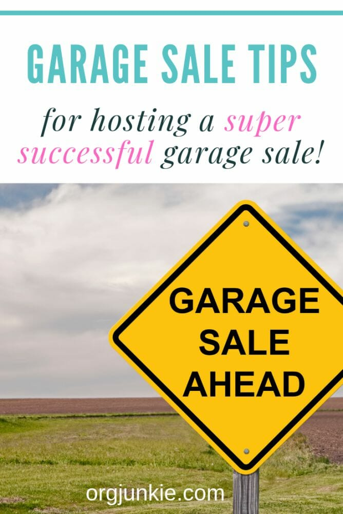 Garage Sale Tips for a Super Successful Garage Sale (with free printables!) at I'm an Organizing Junkie blog