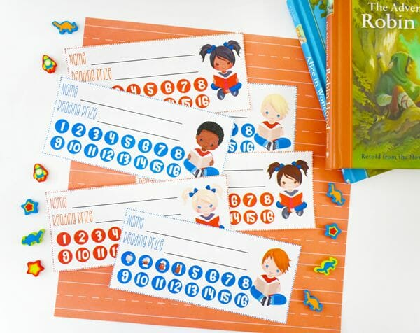 How to Get Your Kids to Love Reading + Free Reading Punch Cards at I'm an Organizing Junkie blog