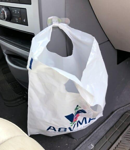 Quick Organizing Tip: Vehicle Garbage Bag Solution