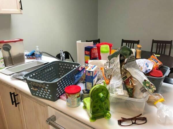 pantry organization during