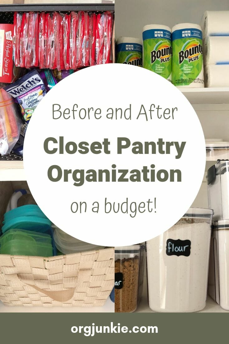 Before and After Closet Pantry Organization