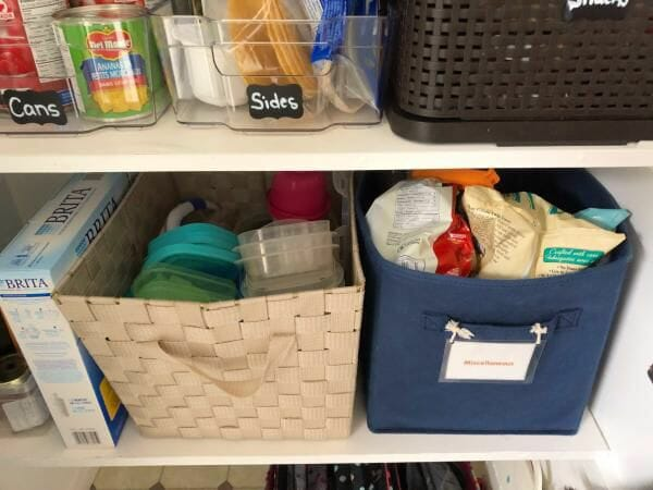 pantry organization after