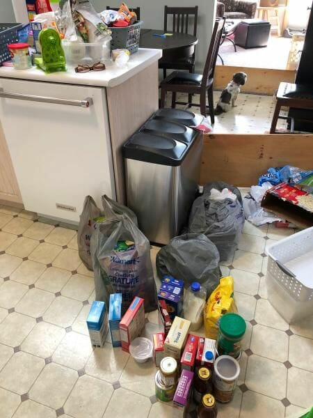 pantry organization before