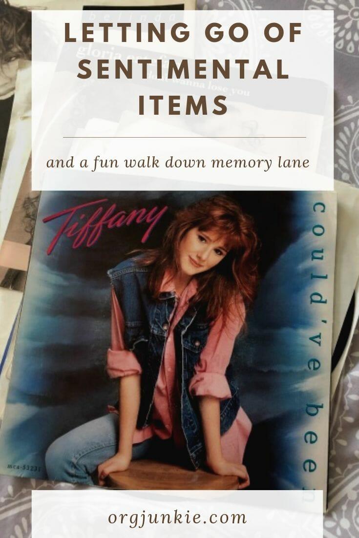 Letting Go of Sentimental Items & a Fun Walk Down Memory Lane at I'm an Organizing Junkie blog