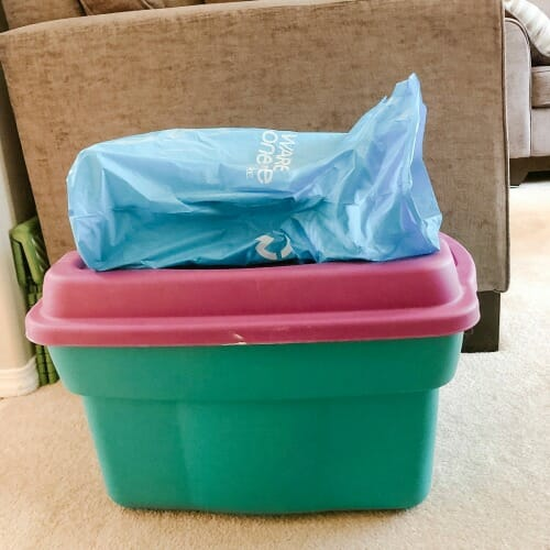 Letting Go of Sentimental Items - my purge pile