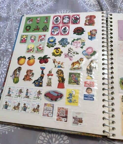 sticker book vintage