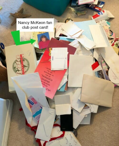 Letting Go of Sentimental Items - my toss pile