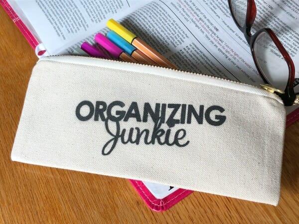 Organizing Junkie pencil case