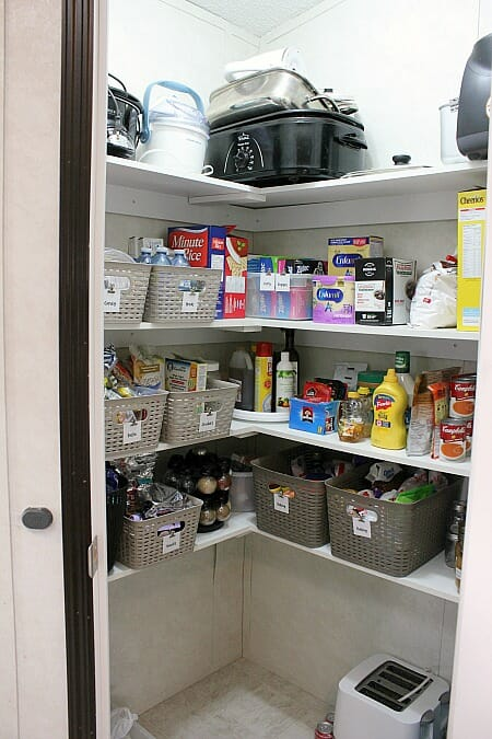 An Organized Kitchen Pantry Makeover with Free Printable Pantry Labels