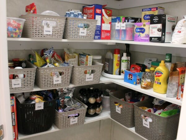 An Organized Kitchen Pantry Makeover after