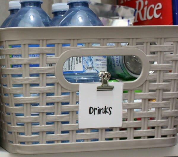 kitchen pantry organized labels