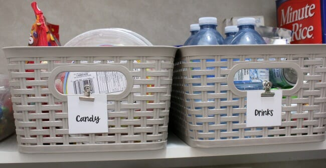 kitchen pantry bins and labels