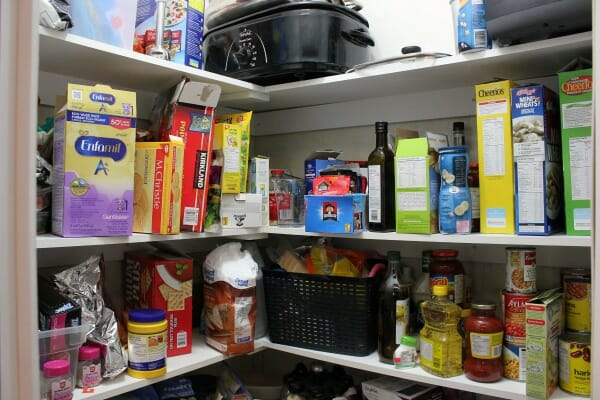An Organized Kitchen Pantry Makeover before