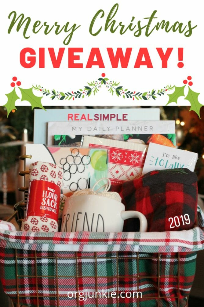 It's Here! My 2019 Merry Christmas Basket of Fun Giveaway! at I'm an Organizing Junkie blog