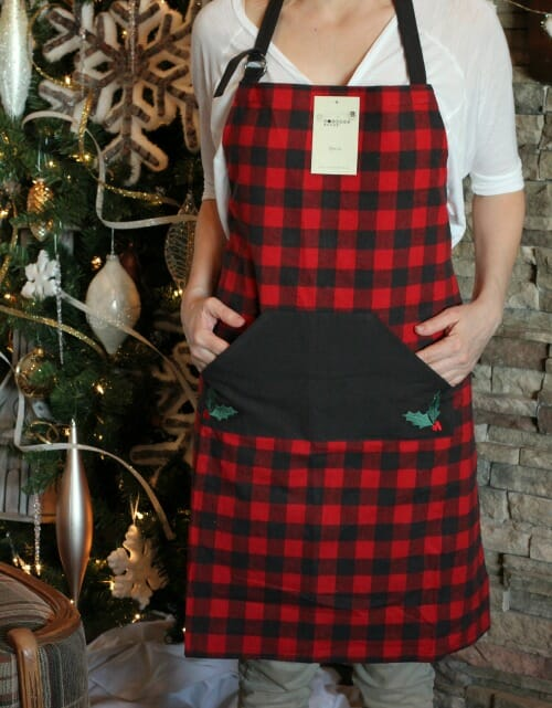 It's Here! My 2019 Merry Christmas Basket of Fun Giveaway! - Buffalo plaid apron