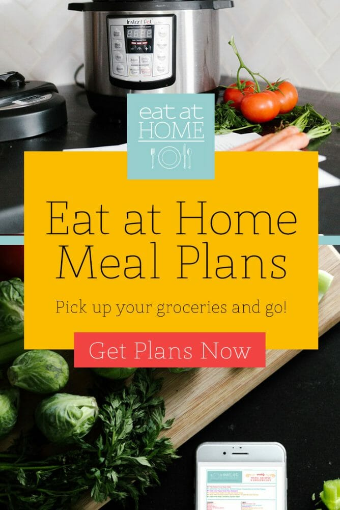 Eat at Home Meal Plans - have someone else do the menu planning for you!