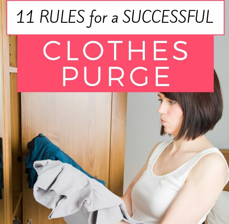 11 Rules for a Successful Clothes Purge