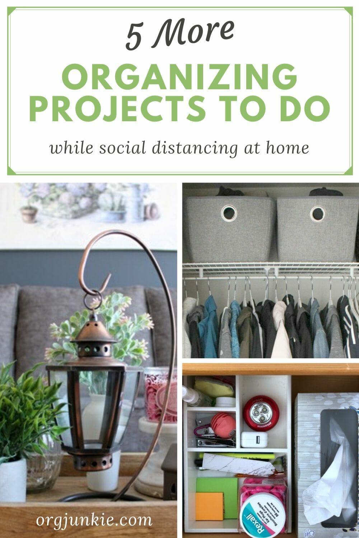 5 More Organizing Tasks to Tackle at Home This Week at I'm an Organizing Junkie blog
