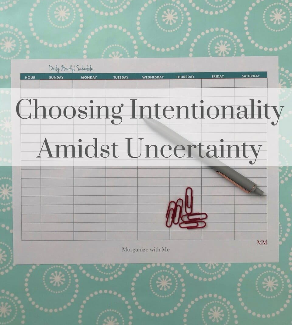 Choosing Intentionality Amidst Uncertainty at I'm an Organizing Junkie blog