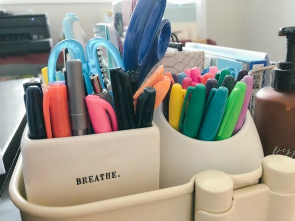 My Organized Home Office - pens