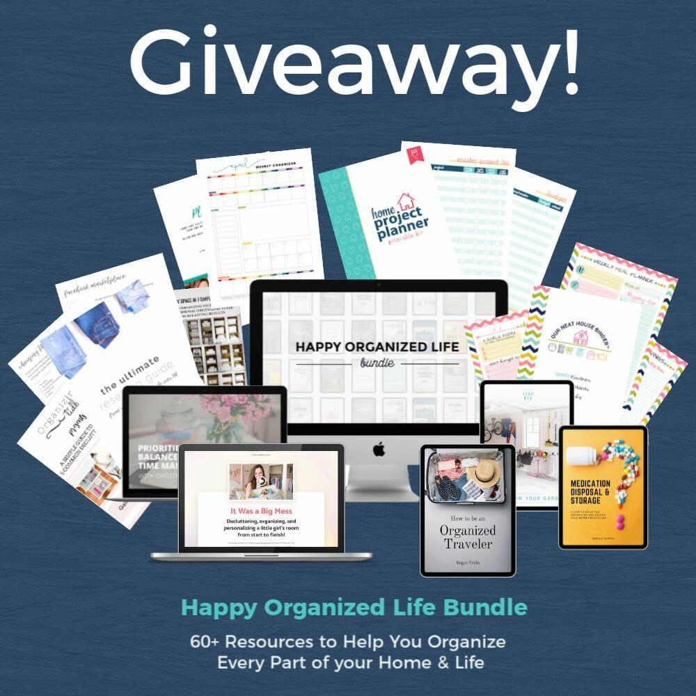 Happy Organized Life Bundle Giveaway