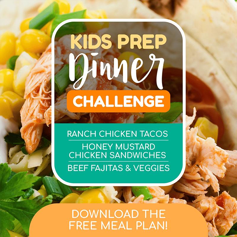 kids prep dinner challenge