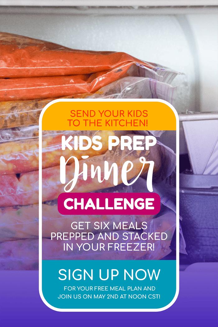 Menu Plan Monday resources ~ Kids prep dinner challenge