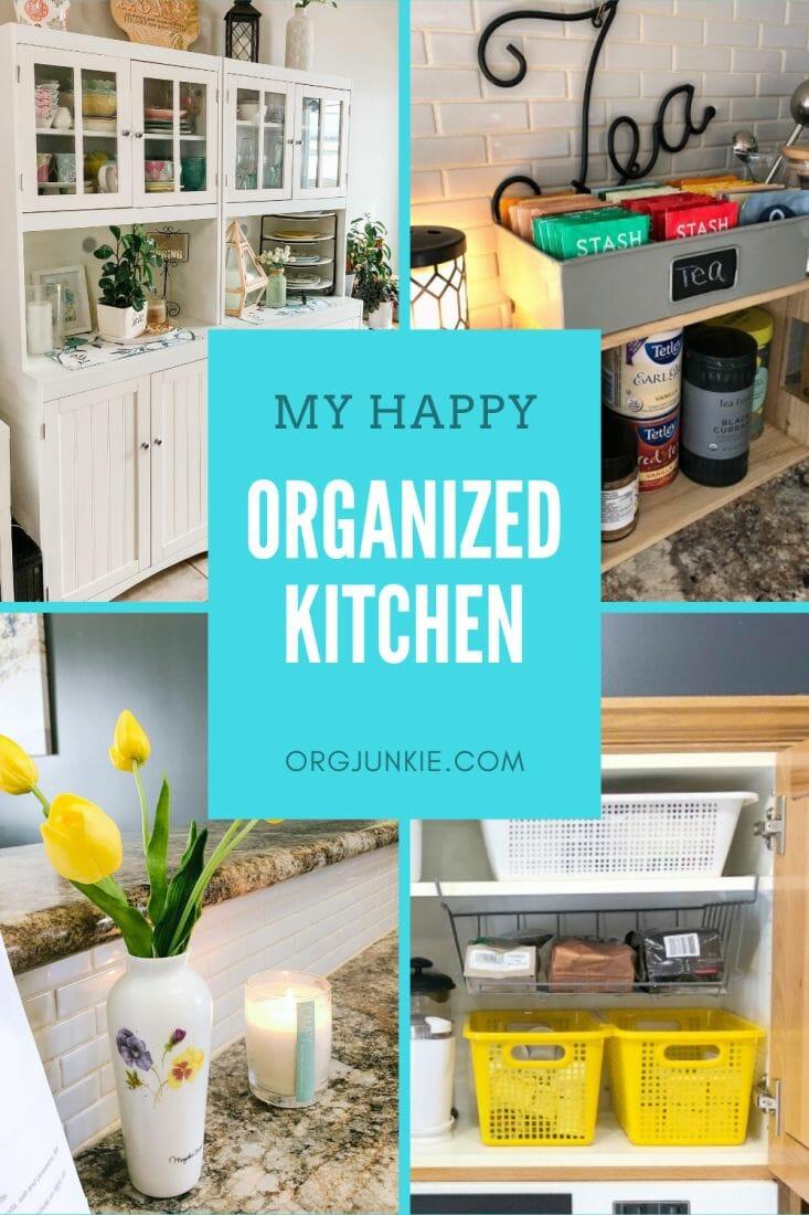 "My Happy Organized Kitchen at I""m an Organizing Junkie blog"