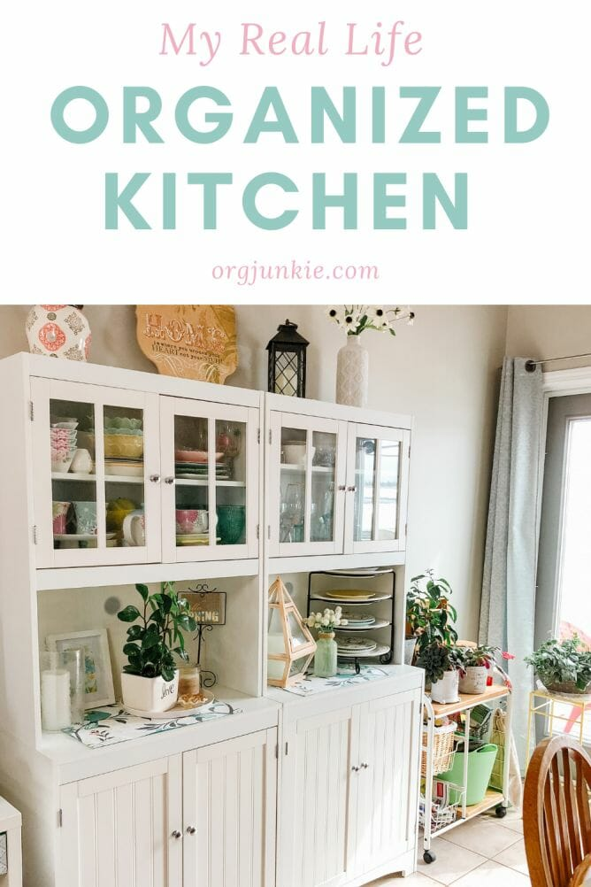 My Real Life Organized Kitchen Makeover On a Budget at I'm an Organizing Junkie blog