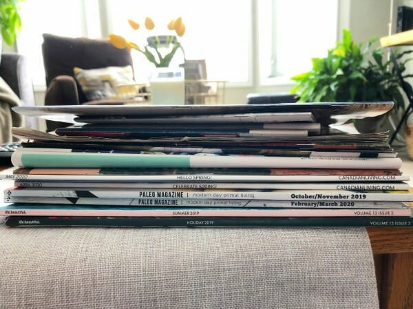 Catching Up with Org Junkie ~ How Life in Isolation is Really Going - magazines to read or declutter
