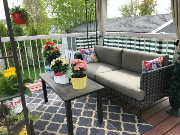 small cozy deck
