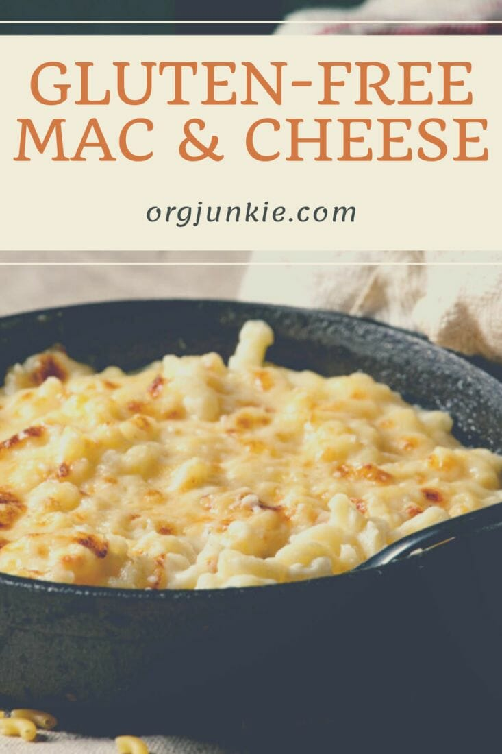 Creamy and Delicious Gluten-Free Mac and Cheese at I'm an Organizing Junkie blog
