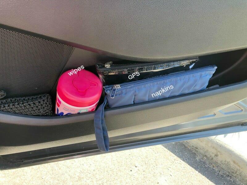 car organization ~ organize with pouches