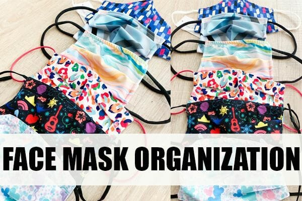 A Quick and Easy Way to Organize Face Masks for the Entire Family at I'm an Organizing Junkie blog