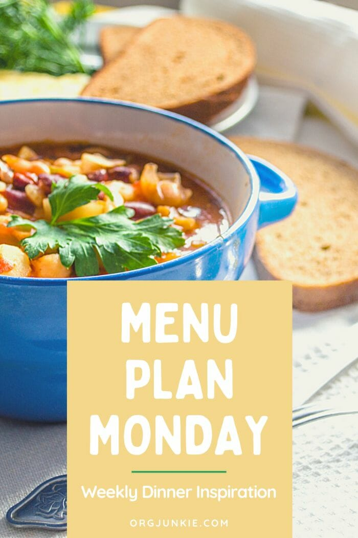 Menu Plan Monday for the week of Oct 26/20 ~ Weekly Dinner Inspiration at I'm an Organizing Junkie