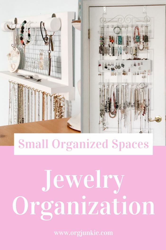 Small Organized Spaces: Jewelry Organization Solutions at I'm an Organizing Junkie blog