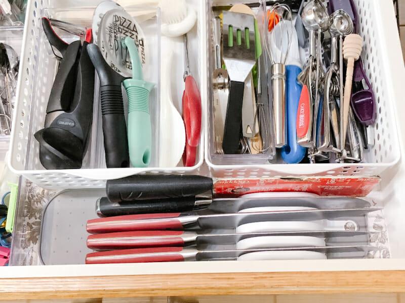 organized utensil drawer