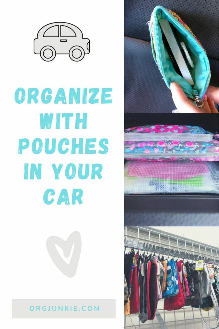 Simple & Inexpensive Car Organization ~ Organize with Pouches at I'm an Organizing Junkie blog