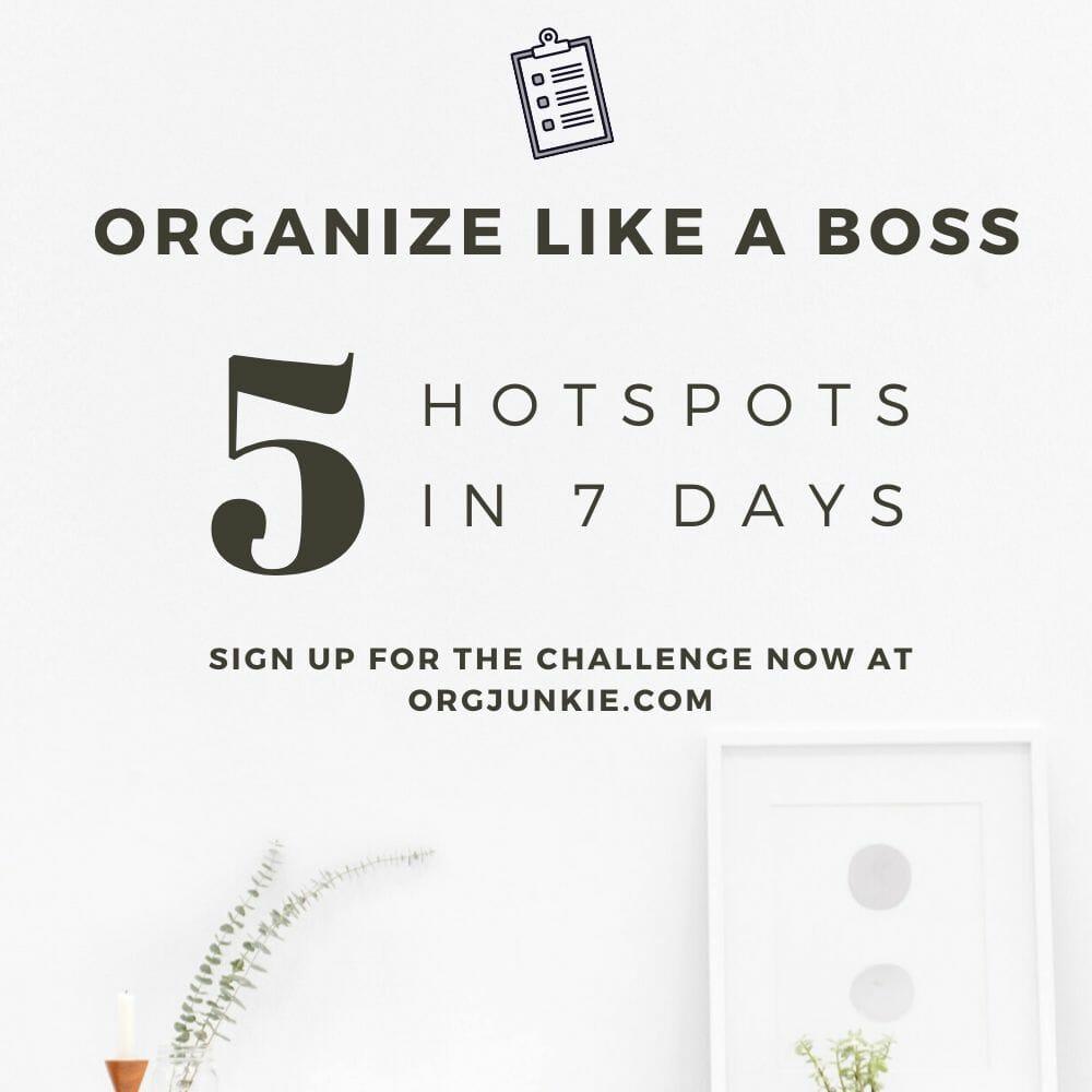 Organize Like a Boss Challenge