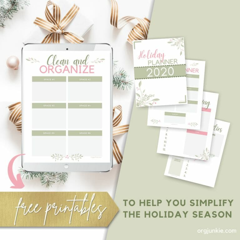 2020 Free Printable Holiday Planner