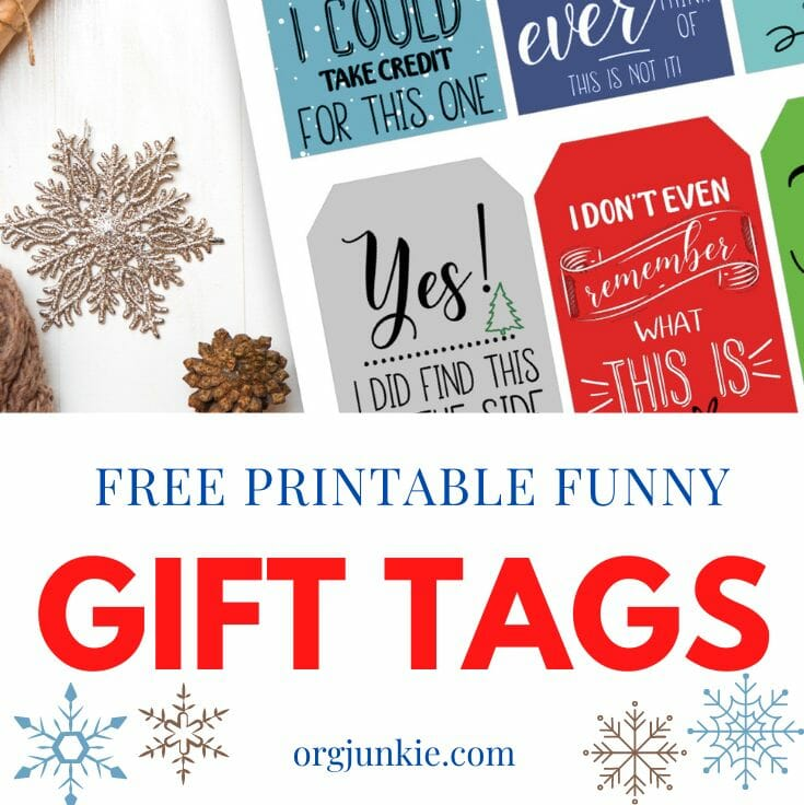 funny Christmas gift tags