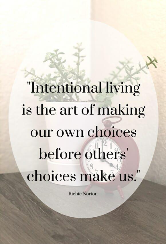 Living an Intentional Life