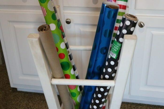 gift wrap organization