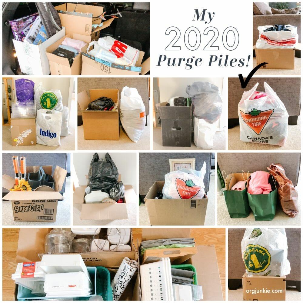 My 2020 purge piles