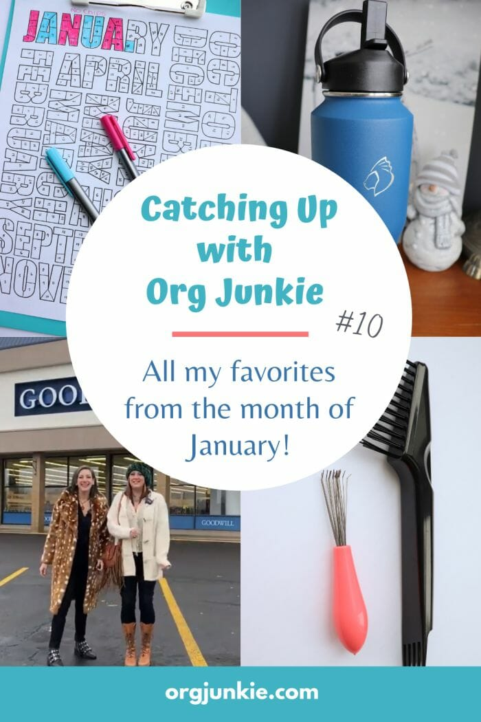 Catching Up with Org Junkie #10 ~ January 2021 Favorites: The Recycled Life, Books & Monthly Tracker at I'm an Organizing Junkie blog
