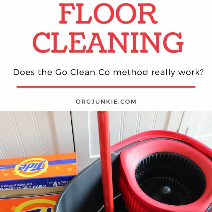 My Go Clean Co Floor Cleaning Experiment